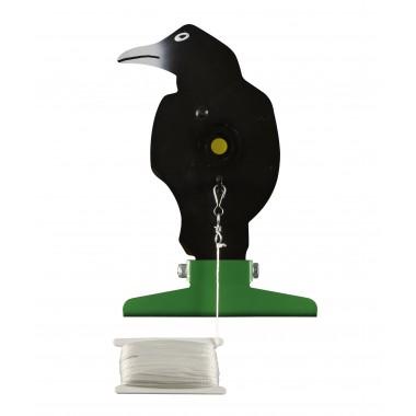 Silhouette corbeau, en métal